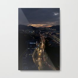 여수 (Yeosu) at dark Metal Print