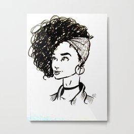 Natural Hair Queen Metal Print