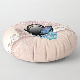 Japanese Keiko Kokeshi Doll Floor Pillow