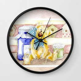 Tiny Bear Wall Clock