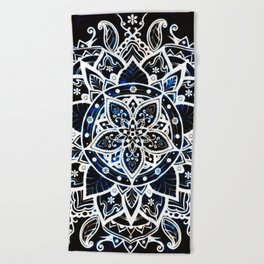 Radiant Zen Glowing Mandala Beach Towel