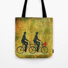 On Wheel Love Tote Bag