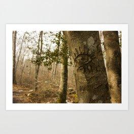 Forest Eyes Art Print