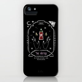 The Hot Sauce Funny Tarot Reading Card Crescent Moon iPhone Case
