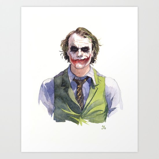 Heath Ledger (The Joker) Art Print