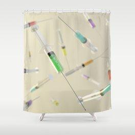 Syringe frenzy Shower Curtain