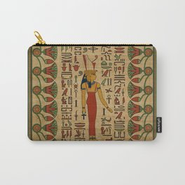 Egyptian Mut Ornament on papyrus Carry-All Pouch