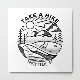 Take a Hike - Tonto Trail Metal Print