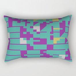 Abstract 8 Bit Art Rectangular Pillow