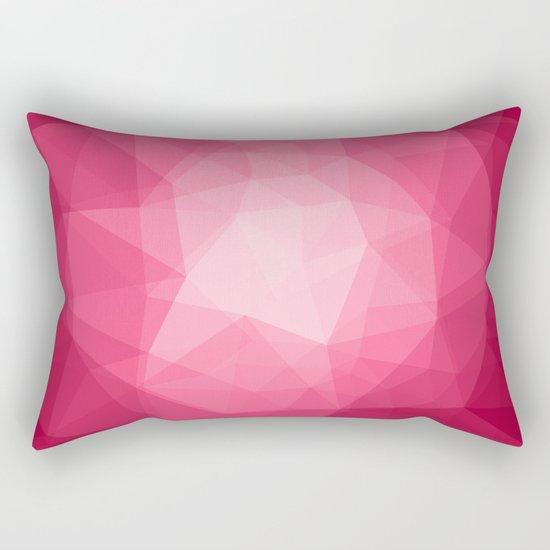 Geometric Polygonal Pattern 02 Rectangular Pillow