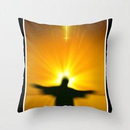 Gebets - Stunde. Throw Pillow