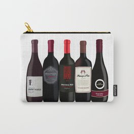 Red Wine Bottles Carry-All Pouch