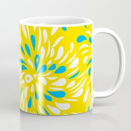 RAIN DROP TEAR DROP FLOWER SWIRLS Coffee Mug