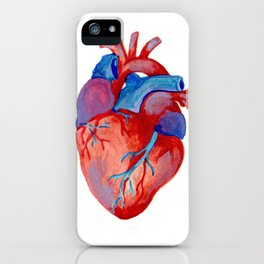 the human heart iPhone Case