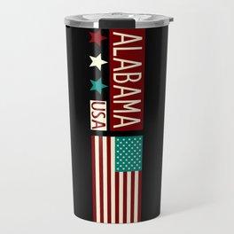 Patriotic Colors: Alabama Travel Mug