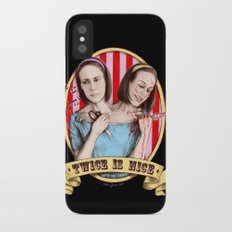 Tattler Twins (color) Slim Case iPhone X