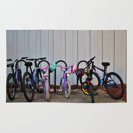 Family Bicycles Rug
