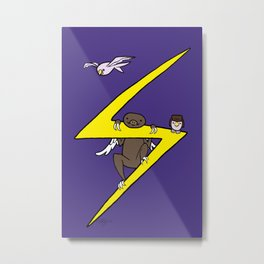Ms. Marvel's Sloth Metal Print