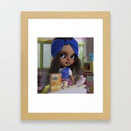 BREAKTST WITH KALIE Framed Art Print