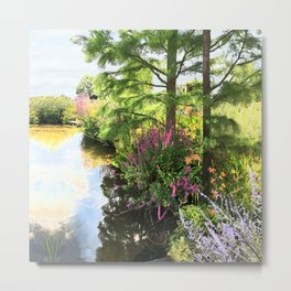 Hyde Hall in the blush of a summer Metal Print