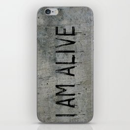 I AM ALIVE - Black - Detroit: Become Human Deviant Writing iPhone Skin