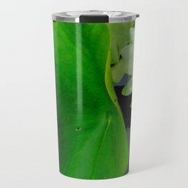 Waterlily & Frog Travel Mug