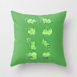 Gawwwzillawww Throw Pillow