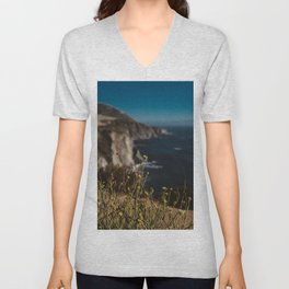 Big Sur Wild Flowers II Unisex V-Neck