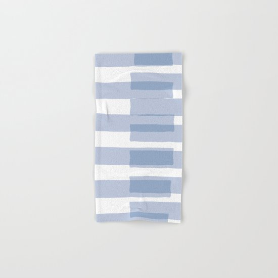 Big Stripes in Light Blue Hand & Bath Towel