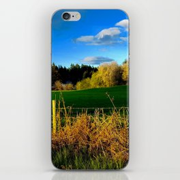 Golden Evening Light Across A Field iPhone Skin