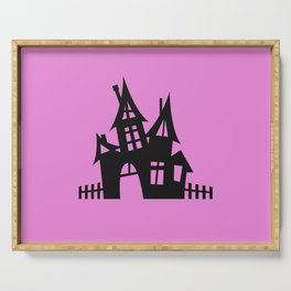 The Halloween House - Pink Palette Side Table Serving Tray