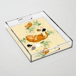 Sleeping cats family Acrylic Tray