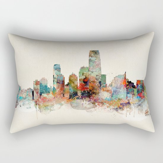 jersey city new jersey Rectangular Pillow