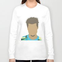 tyler durden Long Sleeve T-shirts featuring Tyler Durden Fight Club by Rosaura Grant