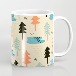 Pine Forest Christmas Trees Coffee Mug
