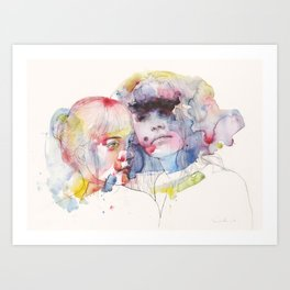 looking for you in my own color wave Art Print