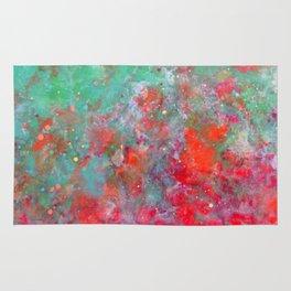 Flower Bed - Original Abstract Art by Vinn Wong Rug