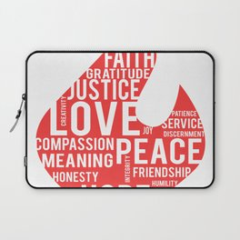 Fire flame and virtues Laptop Sleeve