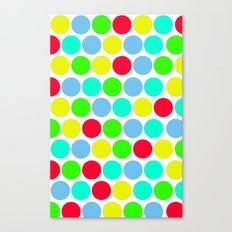 Polka dot, Colors set 3 Canvas Print