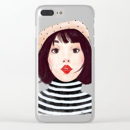 French woman Clear iPhone Case