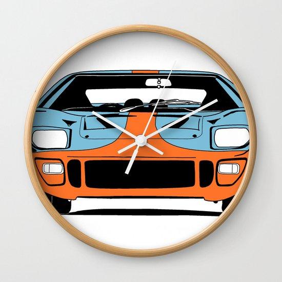 GT40 - Gulf Livery Wall Clock