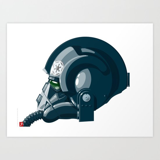 Imperial Pilot helmet Art Print