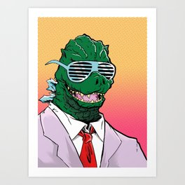 Kaiju Kool Kids_Big G Art Print