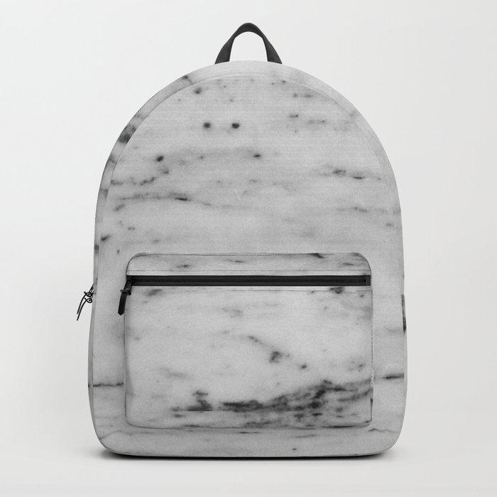 White Marble with Black Flecks Backpack