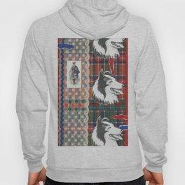 Scottish Collie, Lad, Lace & Tartan Plaid by Nettwork2Design - Nettie Heron-Middleton Hoody