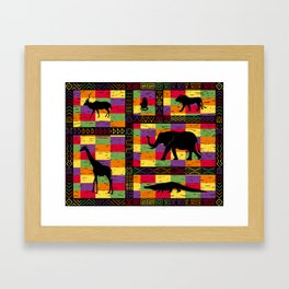 African inspired mash-up Framed Art Print