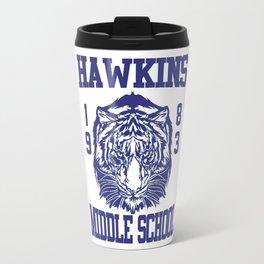 Stranger Hawkins Things School Travel Mug