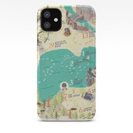 Princess Bride Discovery Map iPhone Case