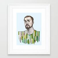 boyfriend Framed Art Prints featuring a boyfriend by Alexandra Boman
