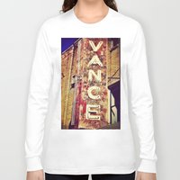 theater Long Sleeve T-shirts featuring vintage theater sign by melissamartin